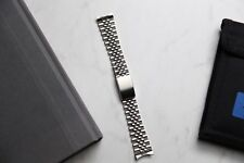 Steel Jubilee Bracelet 18mm With End Links Fits Rolex, Omega, Seiko, Etc.