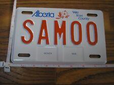 Mint Alberta Wild Rose Country Sample Motor Cycle License Plate SAM00