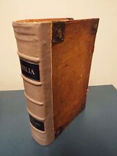 1778 Large Folio German Bible - Pigs Skin Binding - Printed in Basel