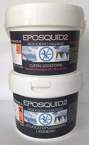 EPOSQUID2 - STUCCO EPOSSIDICO BICOMPONENTE LEGGERO GALLEGGIANTE 4 LITRI