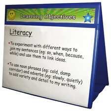 DTS1 - A4 Double Sided Display Board Blue - Ideal for Schools Classroom Learning