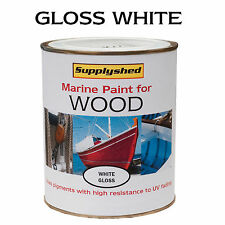 Marine Boat Gloss  WHITE for Wooden Boats 750ml