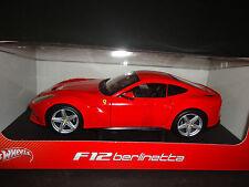 Hot Wheels Ferrari F12 Berlinetta Red BCJ72 1/18