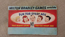 1930's MILTON BRADLEY VINTAGE GAME GUIDE for Various Games Item# G82-2000M3R354