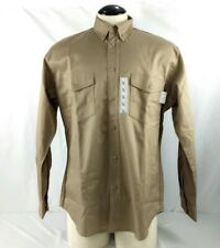 Nwt Oil & Gas Safety Supply Fr Tan Button Down Shirt Size L