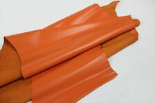 ORANGE LEATHER Genuine Cowhide Leather Slightly Firm/3 oz - 3.5 oz (1.2 - 1.4mm)