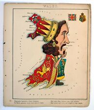 Humorous Maps of Various Countries 1868 by William Harvey aka ALEPH