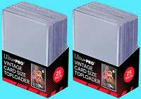 50 Ultra Pro Premium VINTAGE Toploaders NEW Bowman 1952-1956 Topps Baseball Card