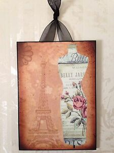Paris Eiffel Tower Fashion Plaque Wall Decor Chic French