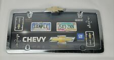 Chevrolet Chevy Bowtie Logo Chrome License Plate Tag Frame for Auto Car Truck