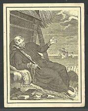 estampa antigua de San Francisco Javier santino holy card image pieuse