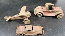 Cast Iron Parts Lot Lucky Boy and 2 Cars