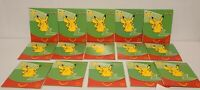 Lot of 15 MCDONALDS 2021 POKEMON SEALED CARD PACKS 25TH ANNIVERSARY HAPPY MEAL