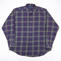 Vintage RALPH LAUREN Blake Purple 90s Long Sleeve Check Shirt Mens XL