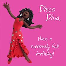 Disco Diva Diana Ross Music Blank Funny Mum Daughter Sister Aunt Birthday Card