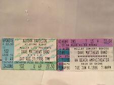 Dave Mathews 2 Concert Ticket Stubs