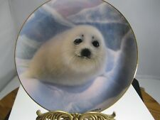 "Franklin Mint/Humane Society Fine Porcelain Plate By Wepplo ""Snow Pup"""