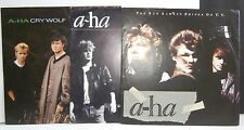 A-HA - 3 x 7'' + PS - CRY WOLF/ SUN ALWAYS SHINES / TAKE ON ME - UK & FRANCE