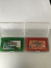 Pokemon Emerald & FireRed - Come in Protective Cases! Nintendo Game Boy Advance
