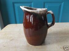 Hull U.S.A. Brown Drip Art Pottery Tall Kitchen Creamer