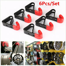 "6Pcs 35KG ""J"" Tire Wheel RIM Hub Hook Wheel Stand Rack Wall Mounted Hanging Hook"