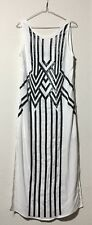 Women's Fashion Summer Holiday Casual Everyday Maxi Dress Black White Small 8