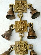Vintage Brass Wall Hanging Wind Chime God Goddess figurine Decor Bell India