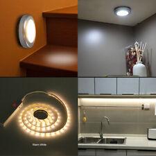 Luces LED bajo gabinete sensor de movimiento de montaje en superficie Batería Armario Tira Lámpara