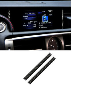 For LEXUS IS250 IS300 IS350 2014-2018 Carbon Fiber GPS Navigation Sticker Trim