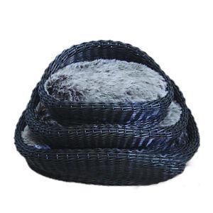 Handmade Oval Padded Wicker/willow dog& cat basket, sofa basket,Dark