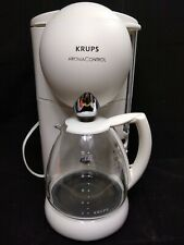 Krups Aroma Control Automatic Coffee Maker 10 Cup Carafe Model 180 White