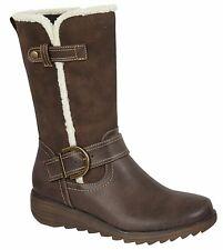 Ladies Womens Boots Mid-Calf Felt Lined Zip Memory Foam Shoes Size