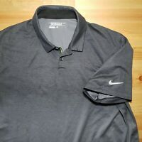 Nike Golf Polo Shirt Dri-Fit Gray Athletic Short Sleeve Men's Sz Large Colonial
