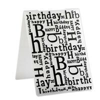 Christmas Words Plastic Embossing Folder for Scrapbook DIY Album Card L&6