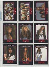 SLAUGHTER 1991 MEGA METAL ROCK BAND 17 CARD SUBSET