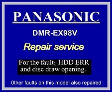 HDD ERR, REPAIR SERVICE for Panasonic DMR-EX98V dvd recorder, hard drive error