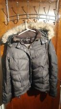 DKNY active WOMENS PADDED WINTER DOWN PUFFER COAT JACKET BLACK Size S vtg