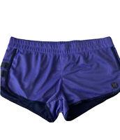 Hurley Womens Activewear Mesh Shorts Fully Lined + Pocket Purple|Blue Sz.XL EUC