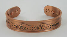MENS BIO MAGNETIC COPPER BANGLE/BRACELET ARTHRITIS PAIN RELIEF HIGH STRENGTH