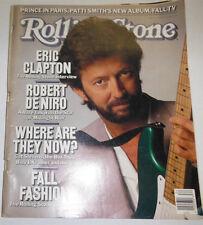 Rolling Stone Magazine Eric Clapton & Robert De Niro August 1988 090314R