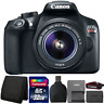 Canon EOS Rebel T6 18MP Digital SLR Camera w/ 18-55mm Lens and Accessory Bundle