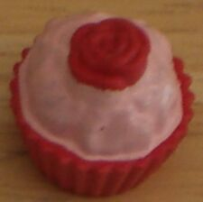 Sindy/Barbie Red & Pink Cup Cake 1.6 cm Tall