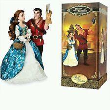 Disney Store Limited Edition Fairytale Designer Belle & Gaston Doll BEAUTY BEAST