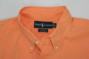 RALPH LAUREN Men's XL BLAKE Cotton Orange Short Sleeve Shirt
