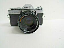 Minolta XD11 35mm SLR Film Camera w MD Rokkor-x 1:1.7 50mm Lens
