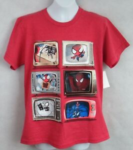 Spider-Man Boys T-Shirt Officially Licensed Marvel TVs Red New Free Shipping