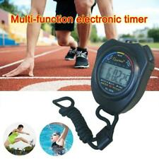 Portable Digital Handheld Sports Stopwatch Stop Watch Counter Top T Alarm T Q5S0
