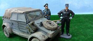 1/32 forces of valor Kubelwagen + 2 Figures  JCM  Used