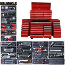 "280 US PRO Tool Chest Box Snap Up 2 side cabinet 75"" FINANCE AVAILABLE + TOOLS"