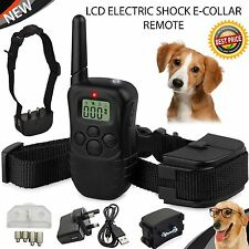Recargable Lcd choque eléctrico E-Collar Control Remoto De Entrenamiento De Perros Antiladridos